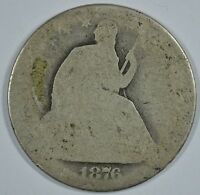 1876 SEATED LIBERTY CIRCULATED SILVER HALF   SEE STORE FOR DISCOUNTS RD56