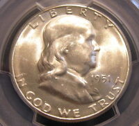 BU 1951 S FRANKLIN HALF DOLLAR PCGS MS 63