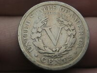 1911 LIBERTY HEAD V NICKEL- VG/FINE DETAILS, FULL RIMS, TONED