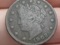 1902 LIBERTY HEAD V NICKEL- VF/EXTRA FINE  DETAILS