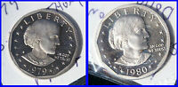 1980 & 1979 S PROOF SUSAN B. ANTHONY DOLLARS HR  $1.00 SHIPPING FCM