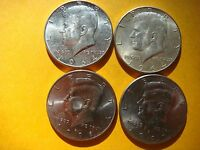 LOT OF 4 KENNEDY U.S HALF DOLLAR COINS 1964 1964 1997 D 1998 D   NICE  871