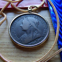 PRE 1901 ENGLISH  QUEEN VICTORIA PENNY PENDANT 28