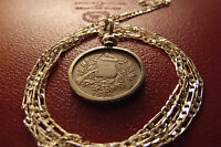 PRE 1912 GUATEMALAN REALE CROSSED MUSKETS COIN PENDANT  28