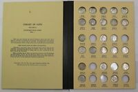 LIBRARY COIN VOL 11   1946 1970 SILVER DIME NEAR COMPLETE ROOSEVELT SET 13038H