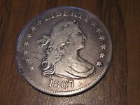 1807 DRAPED BUST QUARTER GREAT DETAIL H H SCRATCHED ON IT SEE PICS