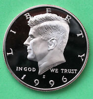 1996 S PROOF KENNEDY HALF DOLLAR COIN 50 CENT JFK TAKEN FROM PROOF SET