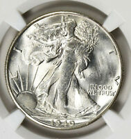 1940 S WALKING LIBERTY HALF DOLLAR NGC MS 63 BRIGHT WHITE WITH SHARP STRIKE