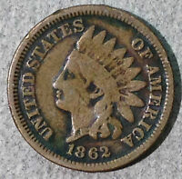 1862 INDIAN HEAD CENT VG