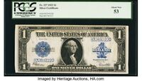 FR. 237 $1 1923 SILVER CERTIFICATE PCGS ABOUT NEW 53.