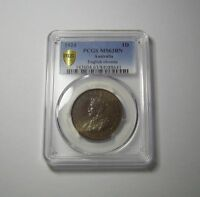 AUSTRALIA 1 PENNY 1924 MS63 PCGS CERTIFIED  COIN UNC