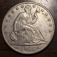 1855 O LIBERTY SEATED 50C HALF DOLLAR