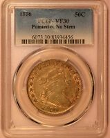 1806 EARLY HALF DOLLAR PCGS VF30 POINTED 6 NO STEM