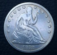 1878 SEATED LIBERTY  HALF DOLLAR HIGH GRADE 90 SILVER  LY GORGEOUS