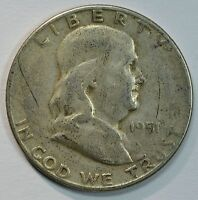 1951 S FRANKLIN SILVER CIRCULATED HALF DOLLAR  SEE STORE FOR DISCOUNTS GR45