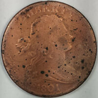 1801 DRAPED BUST LARGE CENT   KEY DATE US COIN