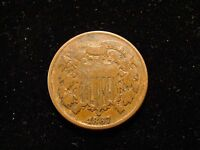 1867 TWO CENT PIECE F - GREAT COIN
