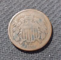 1868 2C TWO CENT PIECE