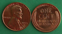 1955 D UNCIRCULATED COPPER LINCOLN CENT BU PENNY WHEAT CENT NICE COIN
