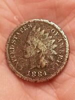 OLD US COINS 1884  INDIAN HEAD PENNY ESTATE CENT PIECE