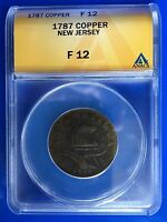 1787 NEW JERSEY SHIELD COPPER CENT
