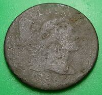 1796 US LARGE CENT LIBERTY CAP S 84 POLE PENNY COIN USA ANTIQUE MONEY CURRENCY