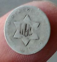 1852 THREE CENTS 3 CENTS   SILVER