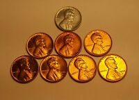 UNCIRCULATED LINCOLN WHEAT CENT LOT 1943 TO 1958 D 8 COINS TOTAL