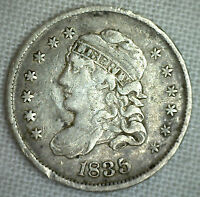 1835 CAPPED BUST SILVER HALF DIME UNITED STATES TYPE COIN VF  FINE