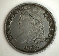 1835 SILVER CAPPED BUST DIME US TYPE COIN EARLY 10 CENTS XF