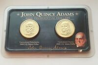 2008 JOHN QUINCY ADAMS PRESIDENTIAL DOLLARS P & D 2 COIN UNCIRCULATED SET LITTLE
