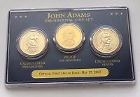 2007 JOHN ADAMS PRESIDENTIAL COIN SET SHIPS FREE