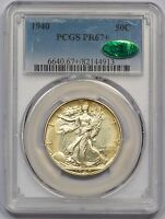 1940 PCGS PF-67CAC WALKING LIBERTY HALF STUNNING COIN LY TONED 68 WORTHY