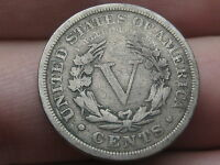 1903 LIBERTY HEAD V NICKEL- VG/FINE DETAILS, FULL RIMS