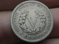 1903 LIBERTY HEAD V NICKEL- VG DETAILS, FULL RIMS