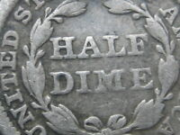 1854 P SEATED LIBERTY HALF DIME WITH ARROWS  VG DETAILS
