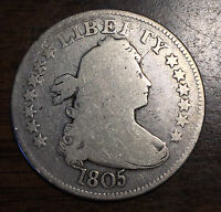 1805 25C DRAPED BUST QUARTER
