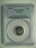 Click now to see the BUY IT NOW Price! 2000P PCGS MS66 10 CENTS CANADA TEN DIME