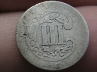 1857 THREE 3 CENT SILVER TRIME- OLD TYPE COIN