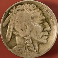 1924 D BUFFALO NICKEL VF DETAILS