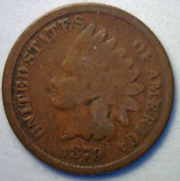 1879 INDIAN HEAD COPPER PENNY US COIN GRADE GOOD G R2