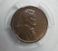 1911-S LINCOLN 1C PCGS MINT STATE 63 BN I SEE SOME RED CHOICE EARLY MM LINCOLN