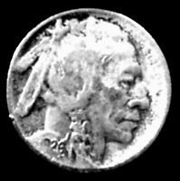 1926-S 5C BUFFALO NICKEL - 91 YEARS OLD -  FINE. ADD $3.00 FOR SH&I COSTS..