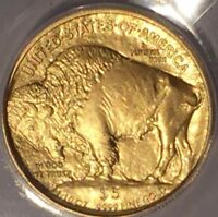 2008 W GOLD AMERICAN BUFFALO 1/10 OZ $5 ANACS SP70 : RAZOR SHARP DETAIL