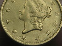 1852 $1 GOLD LIBERTY HEAD ONE DOLLAR COIN