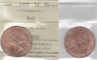 1908 ICCS MS65 1 CENT RED CANADA ONE PENNY LARGE