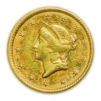 1851 $1 LIBERTY HEAD GOLD COIN SMALL  CIRCULATED PIECE [3465.01]