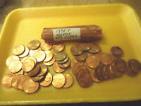 1998 P MOSTLY RED CIRCS ROLL OF CENTS        >>COMBINED SHIPPING<<