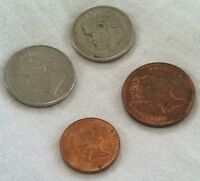 LOT OF 4 FOREIGN COINS