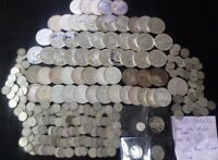 MASSIVE 230 MIXED DATE COUNTRY AND GRADE SILVER COIN LOT U.S
